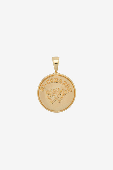 Peso Coin Nacklace Charm Silver Goldplated Anna + Nina