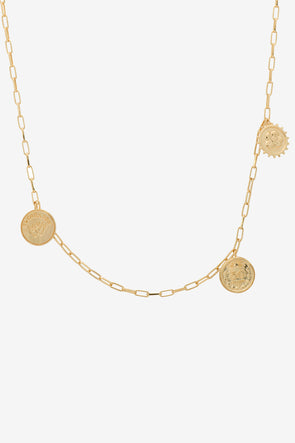 Peso Mexicano Necklace Silver Goldplated Anna + Nina