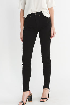 Maggie High Waist Skinny Jeans Black - Selected Femme - modern jeans denim stretchy comfortable