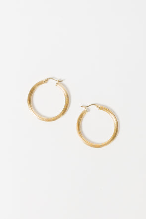 Pyramid Hoop Earrings Goldplated