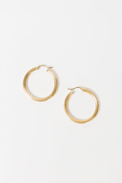 Pyramid Hoop Earrings Goldplated - Anna + Nina