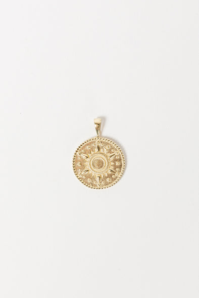 Cairo Necklace Charm Goldplated - Anna + Nina - Egyptian ancient hieroglyphics inspired gold