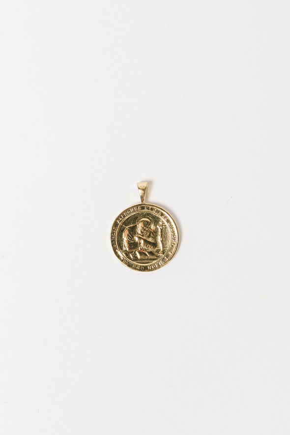 Madonna Necklace Charm - Anna + Nina - charm disc goldplated goldplated 20mm handmade