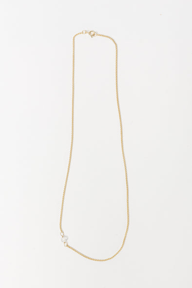 White Quartz Necklace Short Goldplated - Anna x Nina - goldplated necklace 14k dainty subtle