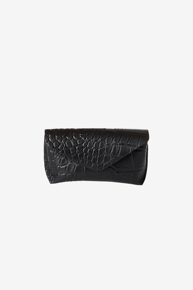 Spectacle Case Black Croco - O My Bag - Black croco eco leather spectacle case magnetic closure