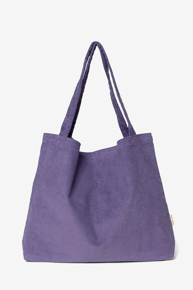 Purple Rain Mom Bag - Studio NOOS - Purple ribbed cotton mom bag