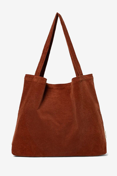Rusty Rib Mom Bag - Studio NOOS - Rusty ribbed cotton mom bag