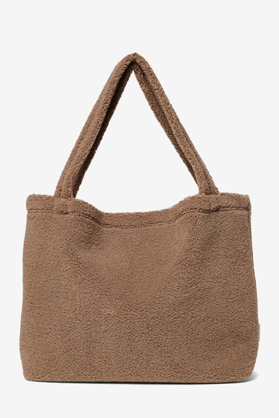Brown Chunky Teddy Mom Bag - Studio Noos - Handmade teddy mom bag