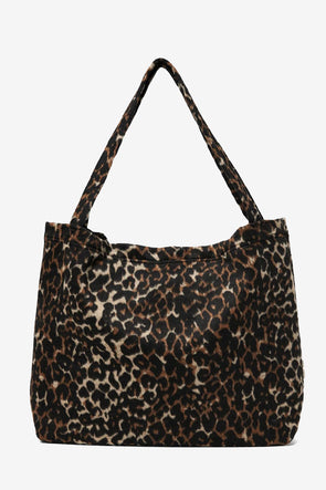 Brown Jaguar Mom Bag - Studio Noos - Handmade mom bag Jaguar print