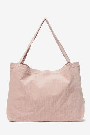 Dusty Pink Rib Mom Bag - Studio NOOS - Ribbed mom bag dusty pink