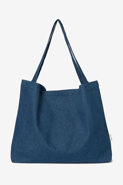 Dark Denim Mom Bag - Studio Noos - Blue denim handmade mom bag