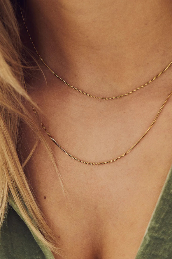 Plain Short Necklace Goldplated