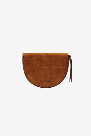 Laura's Coin Purse Cognac Croco Classic Leather - O My Bag