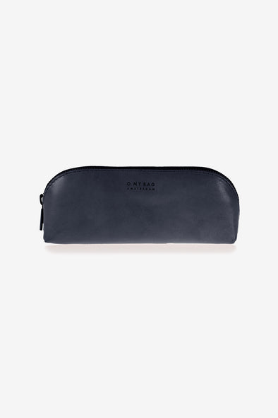 Pencil Case Large Navy - O My Bag - Navy leather pencil case