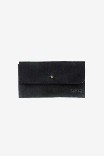 Pixie's Pouch Black Hunter Leather - O My Bag - Black leather wallet