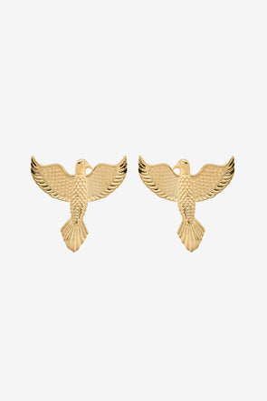 Eagle Earrings Silver Goldplated