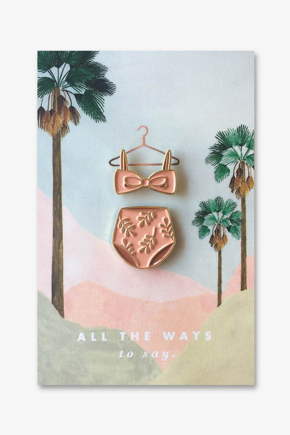 Pink Swim Suit Pin