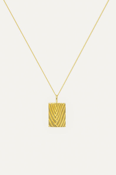 Travellers Palm Necklace Goldplated - Flawed - gold pendant necklace
