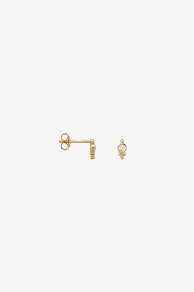 Single Bindi Stud Zirconia Silver Goldplated Anna Nina Jewellery