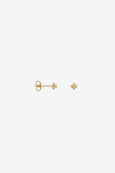 Single Blossom Stud Silver Goldplated Anna Nina Jewelry