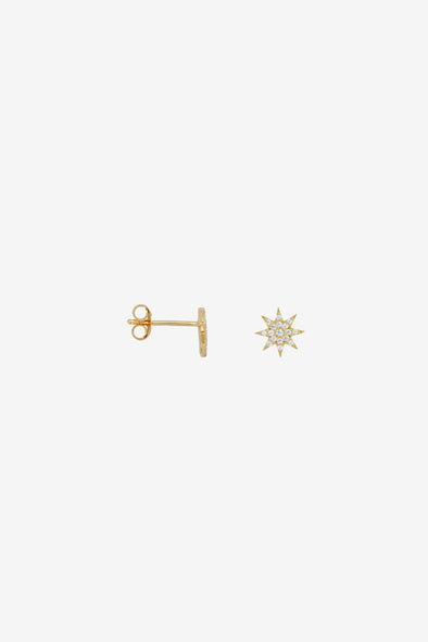 Single Nova Stud White Silver Goldplated Anna Nina Jewellery