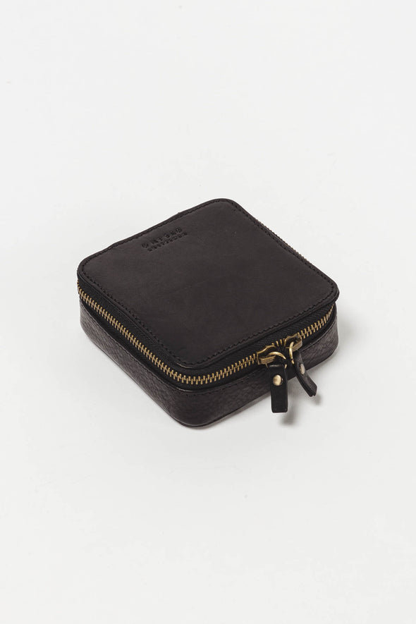 Jewellery Box Black Stromboli Leather
