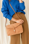 Ally Maxi Camel Hunter Leather - O My Bag - Purse Handbag with shoulder strap