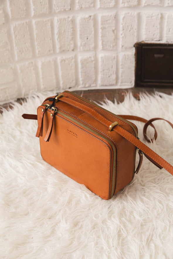 Bee's Box Bag Camel - O My Bag - retro camel bag box square bag leather small