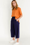 Wille Knit Caramel - Selected Femme - casual relaxed knitted t-shirt tee side slits orange