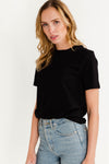 My Perfect Tee Box Cut Black- Selected Femme- T-shirt black basic round neck