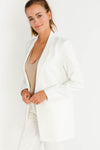 Tara Blazer Broken White - Minimum - Blazer broken white one button basic