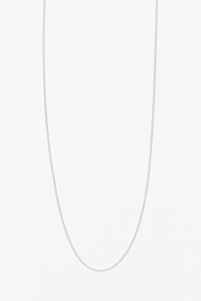 Plain Long Necklace Silver - Anna + Nina - sterling silver handmade