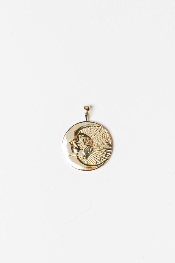 Cosmic Necklace Charm Goldplated