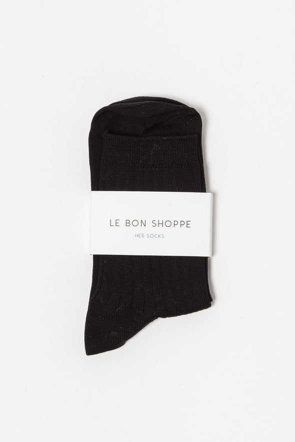 Le Bon Shoppe Socks Her True Black