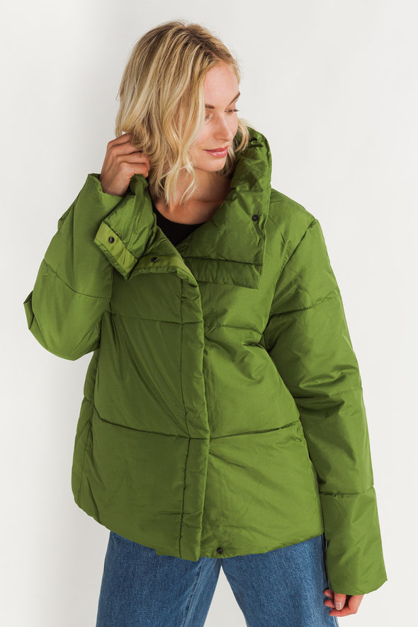 Addy Puffer Jacket Twist Of Lime