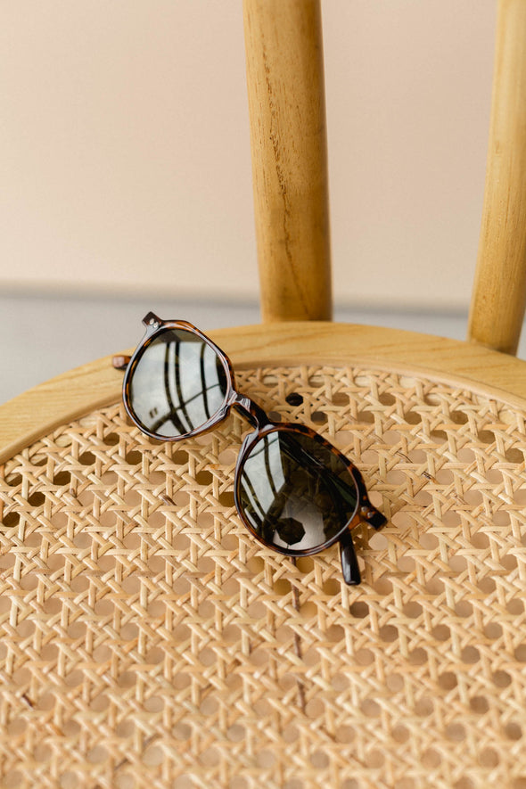 Chauen Tigris Olive Sunnies - Meller - classic frame sunglasses tortoise shell
