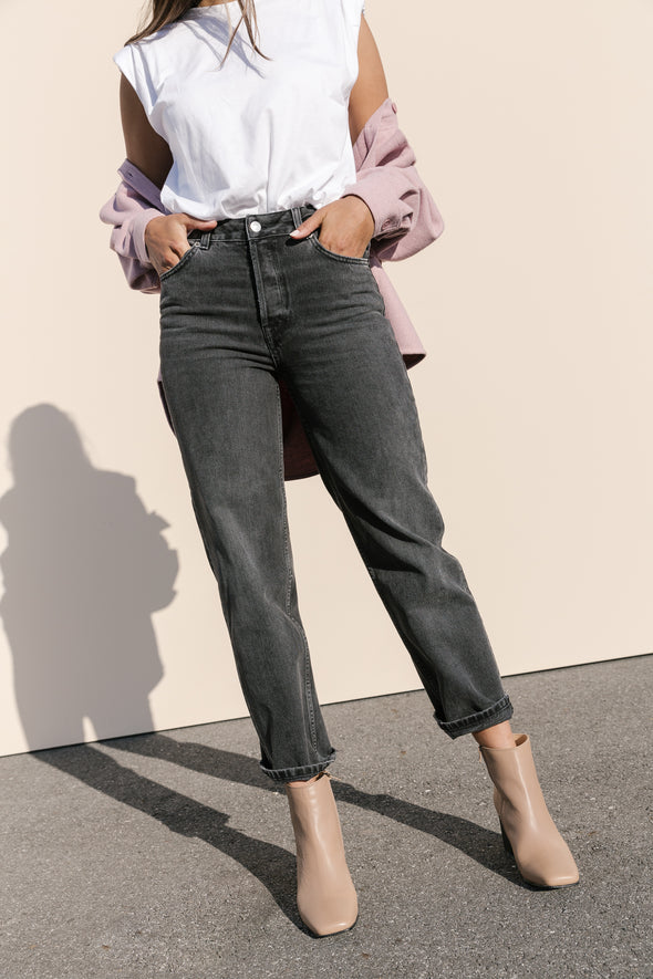 Kate Straight Jeans Grey Stone