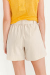 Malvina Shorts Sandshell - Selected Femme - Sand beige nude shorts elasticated waist tie