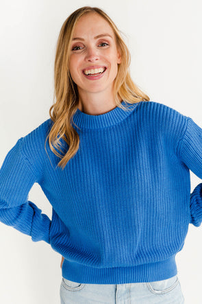 Mikala Knit Palace Blue - Minimum - casual relaxed sweater jumper royal blue