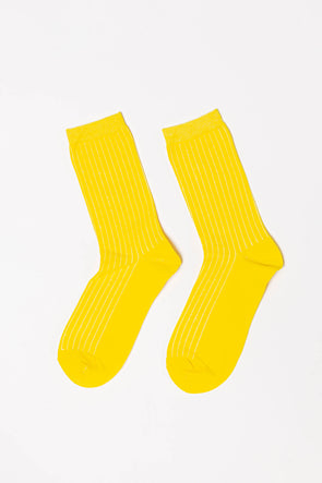 Bobby Rib Socks Empire Yellow