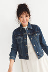 Story Spruce Blue Denim Jacket - Selected Femme - Blue denim jacket buttons basic