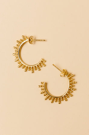 Sunrise Earrings Gold Plated - My Treasure Hunts