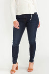 Jane Straight Mineral Blue Jeans - Selected - wide leg trousers denim