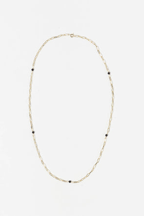 Onyx Necklace Goldplated