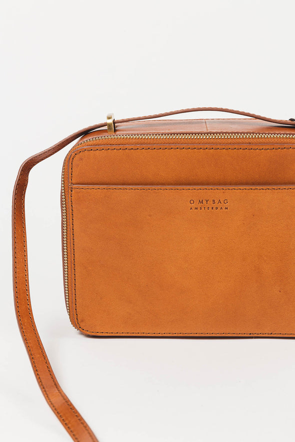 Bee's Box Bag Cognac Classic Leather