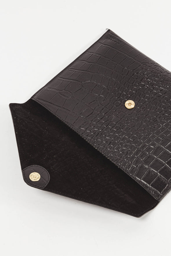 "Envelope Laptop Sleeve 13"" Air Black Croco"