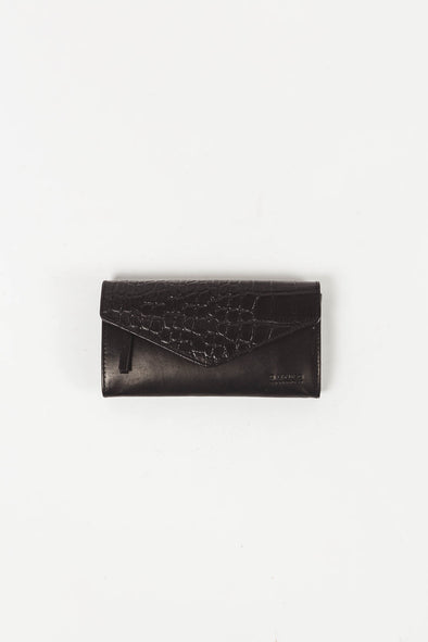 Pixie Envelope Black/Croco Classic Leather