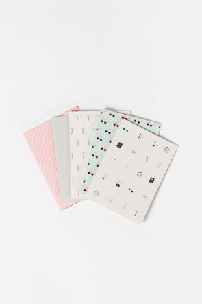 Journey Notebook - Kikki K - printed palm trees sunglasses stripes
