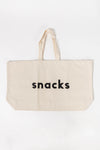Snacks Really Big Canvas Bag - Alphabags - tote bag oversized letters