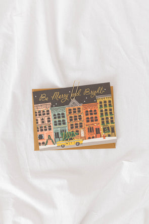 City Holiday Be Merry Card